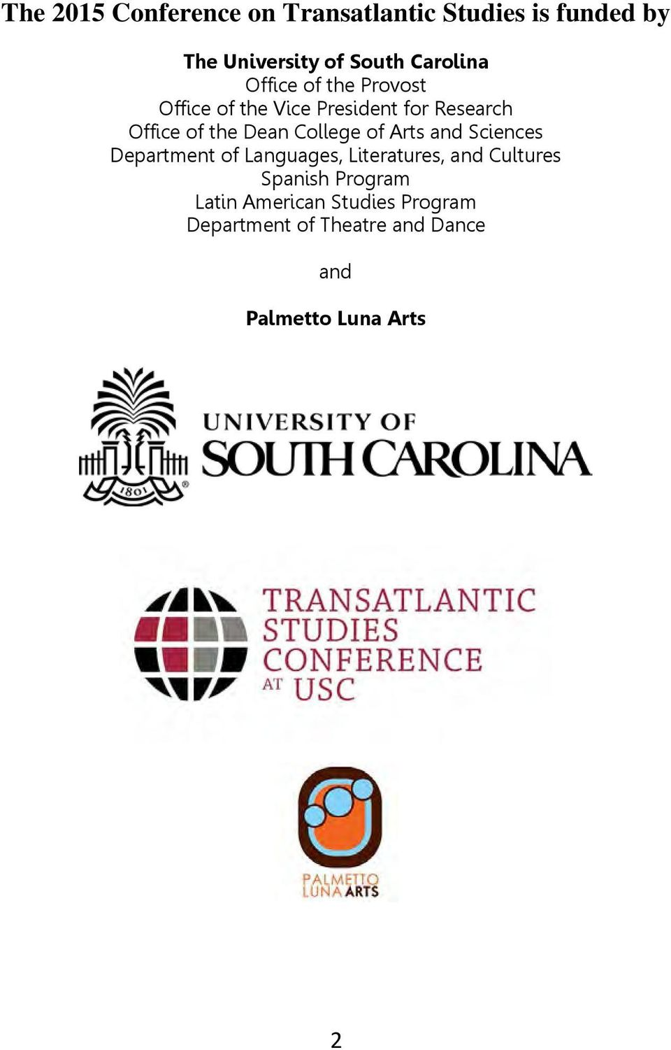 Dean College of Arts and Sciences Department of Languages, Literatures, and Cultures