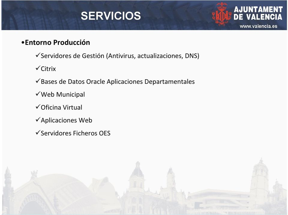 Datos Oracle Aplicaciones Departamentales Web