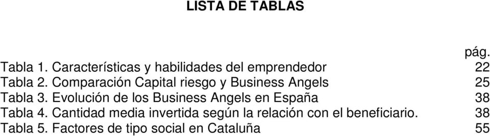 Comparación Capital riesgo y Business Angels 25 Tabla 3.