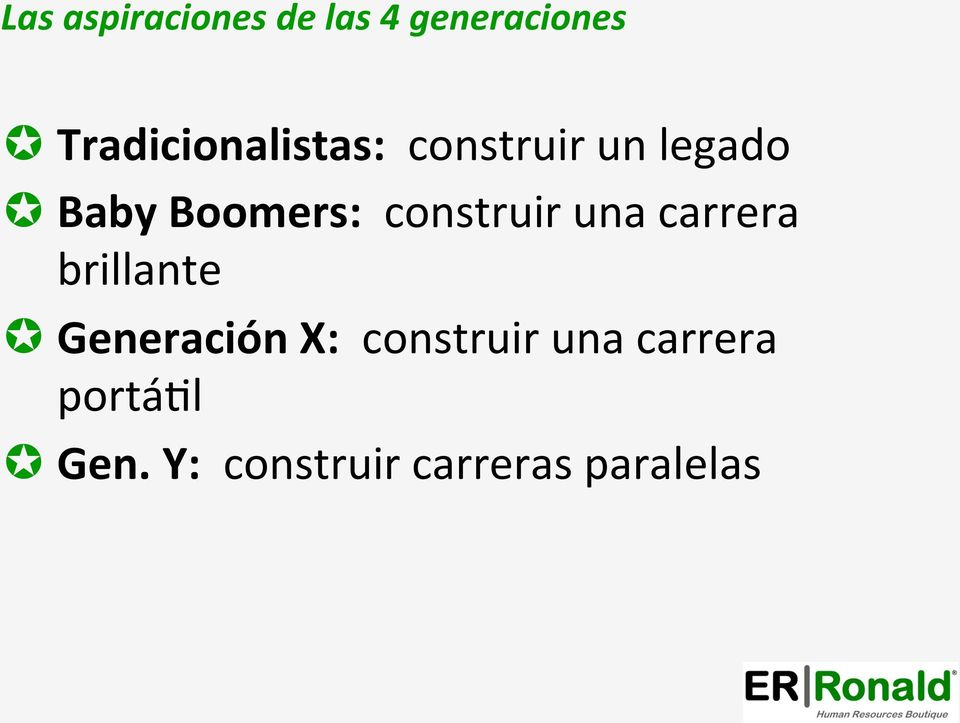 Boomers: construir una carrera brillante µ