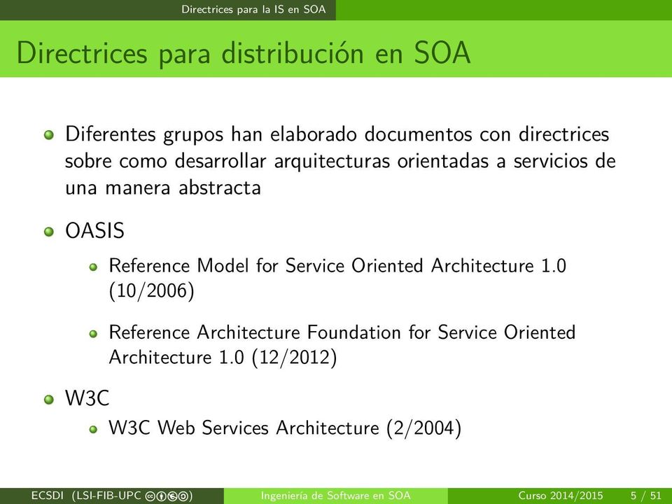 for Service Oriented Architecture 1.0 (10/2006) Reference Architecture Foundation for Service Oriented Architecture 1.