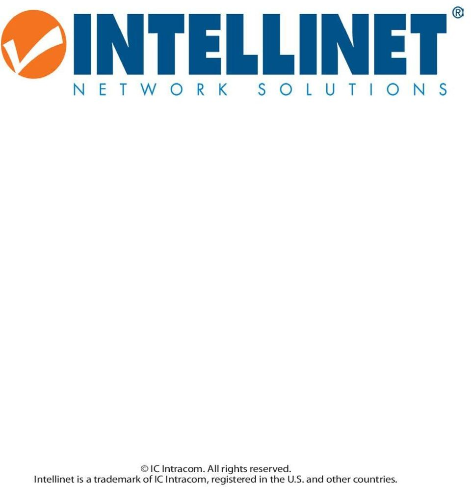 Intellinet is a trademark of