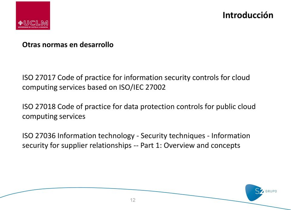 protection controls for public cloud computing services ISO 27036 Information technology -