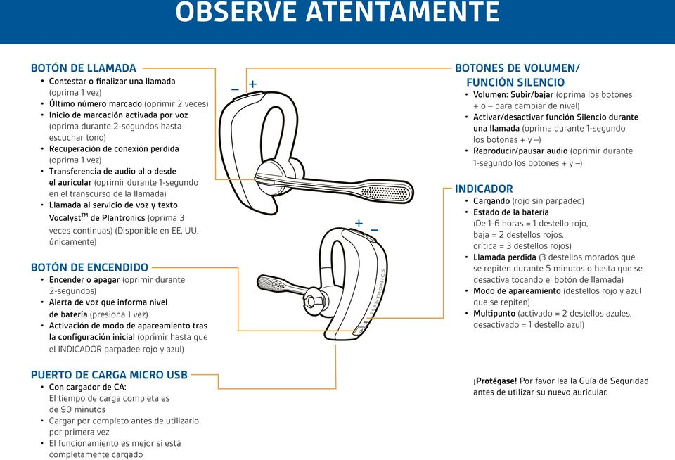texto Vocalyst TM de Plantronics (oprima 3 veces continuas) (Disponible en EE. UU.