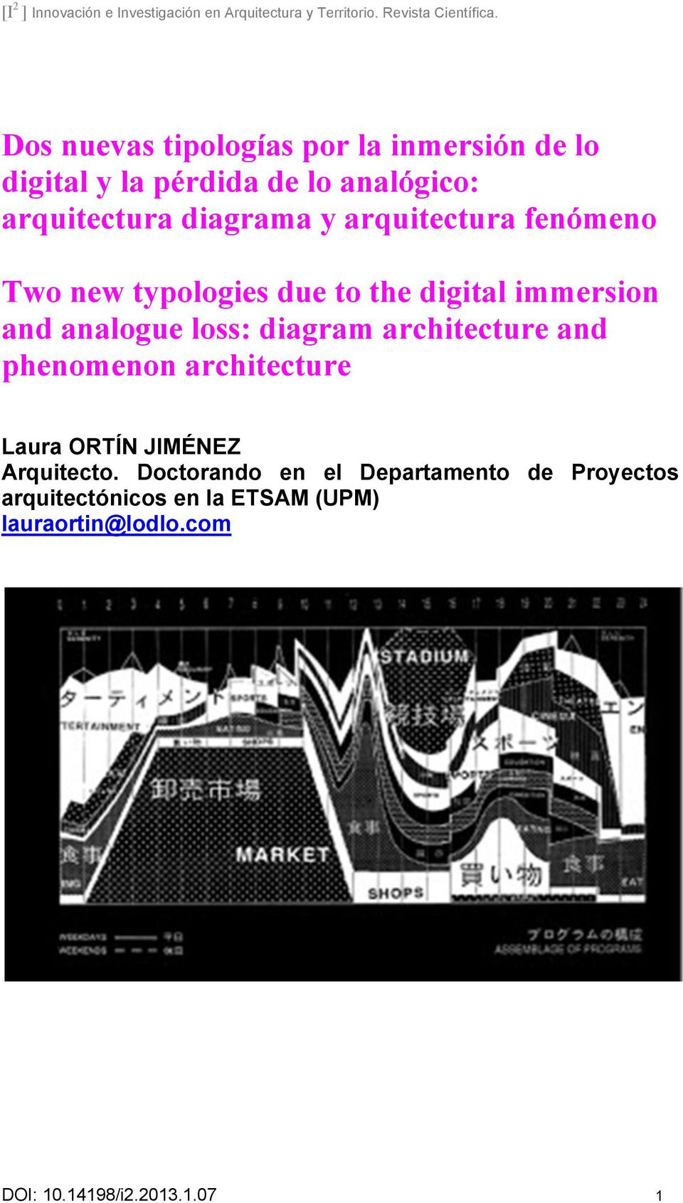 diagram architecture and phenomenon architecture Laura ORTÍN JIMÉNEZ Arquitecto.