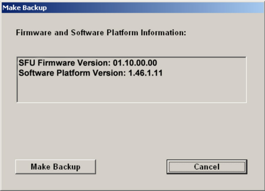 "Installed Software Windows XP Recovery and Backup Partition 2. Click ""Make Backup"". After the backup, the ""Windows XP Embedded Recovery and Backup Partition"" dialog is displayed again. 3."
