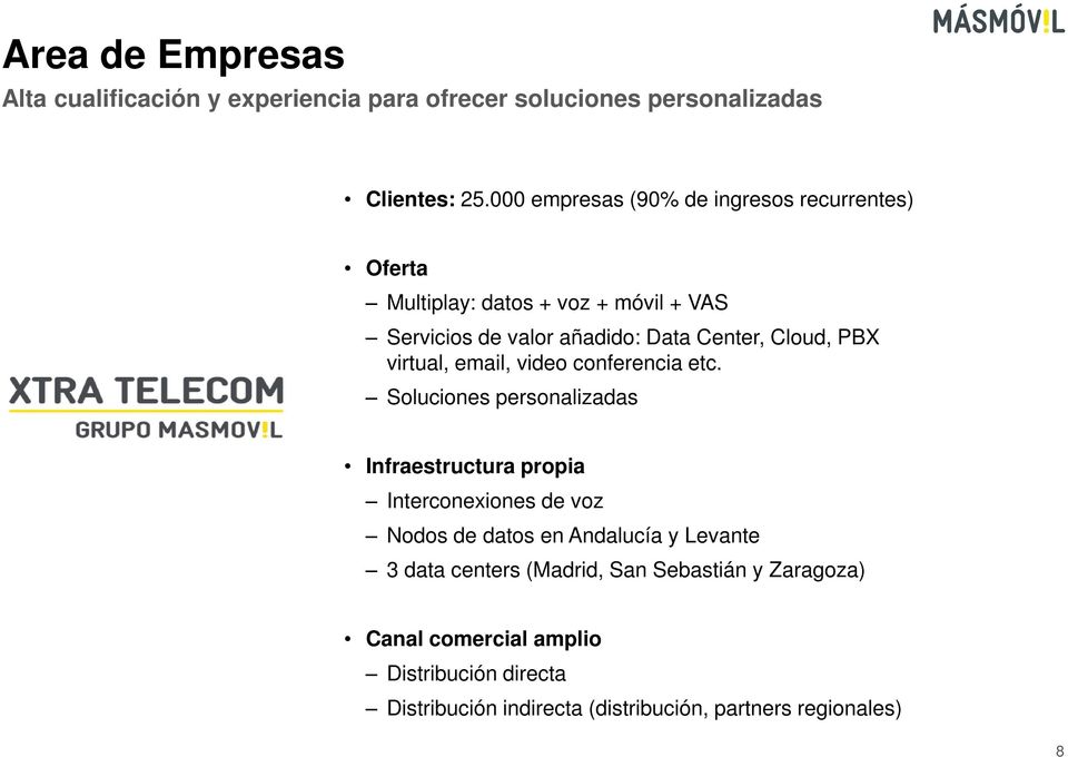 PBX virtual, email, video conferencia etc.