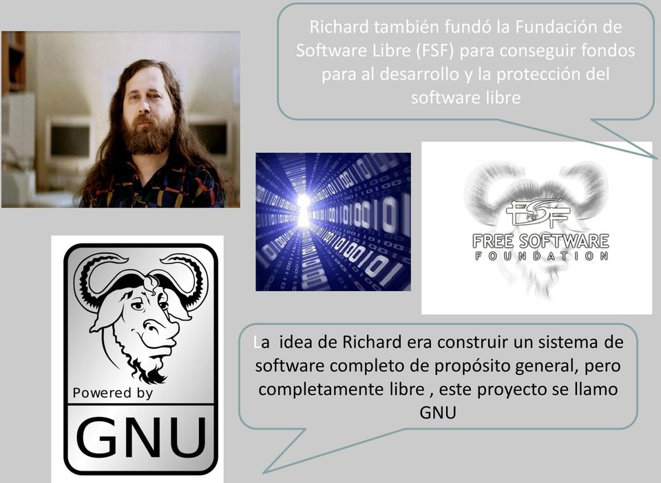 libre La idea de Richard era construir un sistema de software