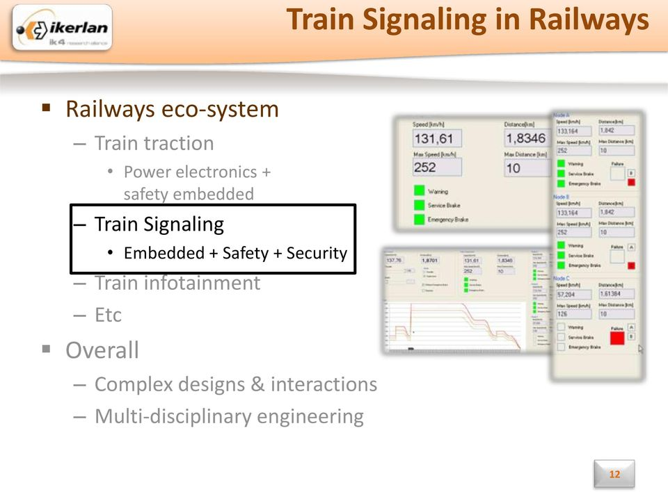 Signaling Embedded + Safety + Security Train infotainment