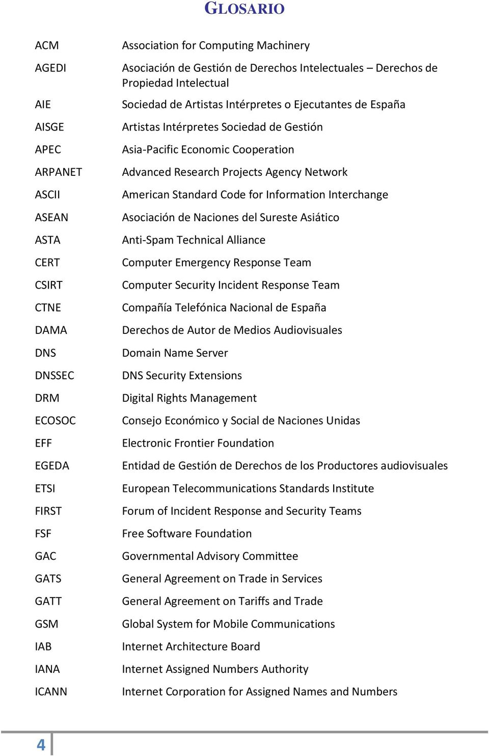 Economic Cooperation Advanced Research Projects Agency Network American Standard Code for Information Interchange Asociación de Naciones del Sureste Asiático Anti-Spam Technical Alliance Computer