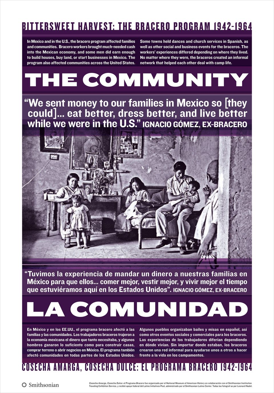 The program also affected communities across the United States. Some towns held dances and church services in Spanish, as well as other social and business events for the braceros.