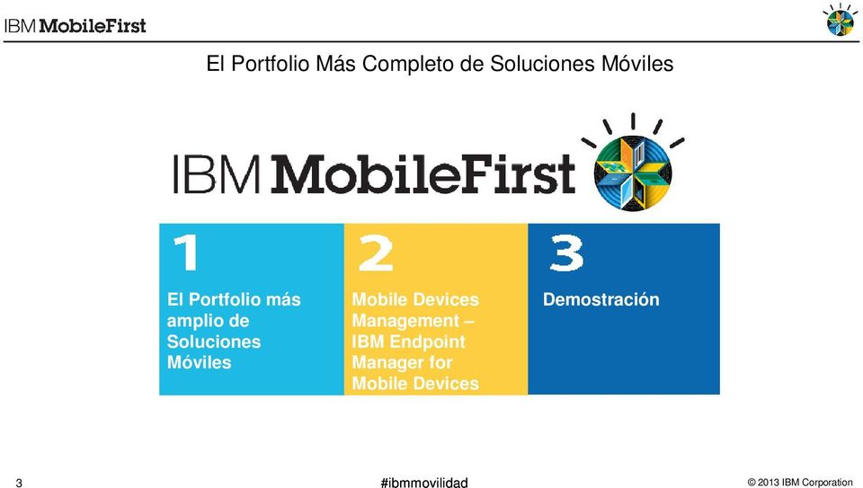 Móviles Mobile Devices Management IBM Endpoint