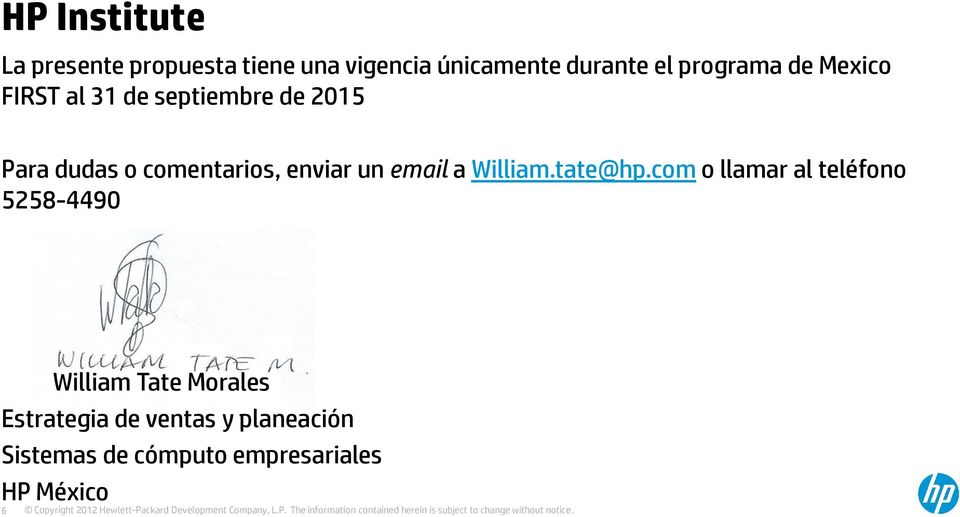 enviar un email a William.tate@hp.
