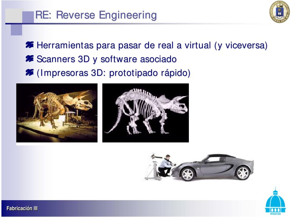 viceversa) Scanners 3D y software