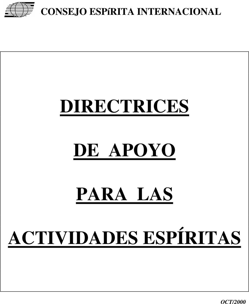DIRECTRICES DE APOYO