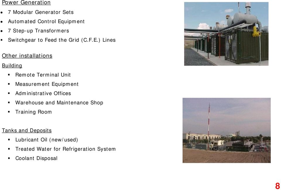 ) Lines Other installations Building Remote Terminal Unit Measurement Equipment Administrative