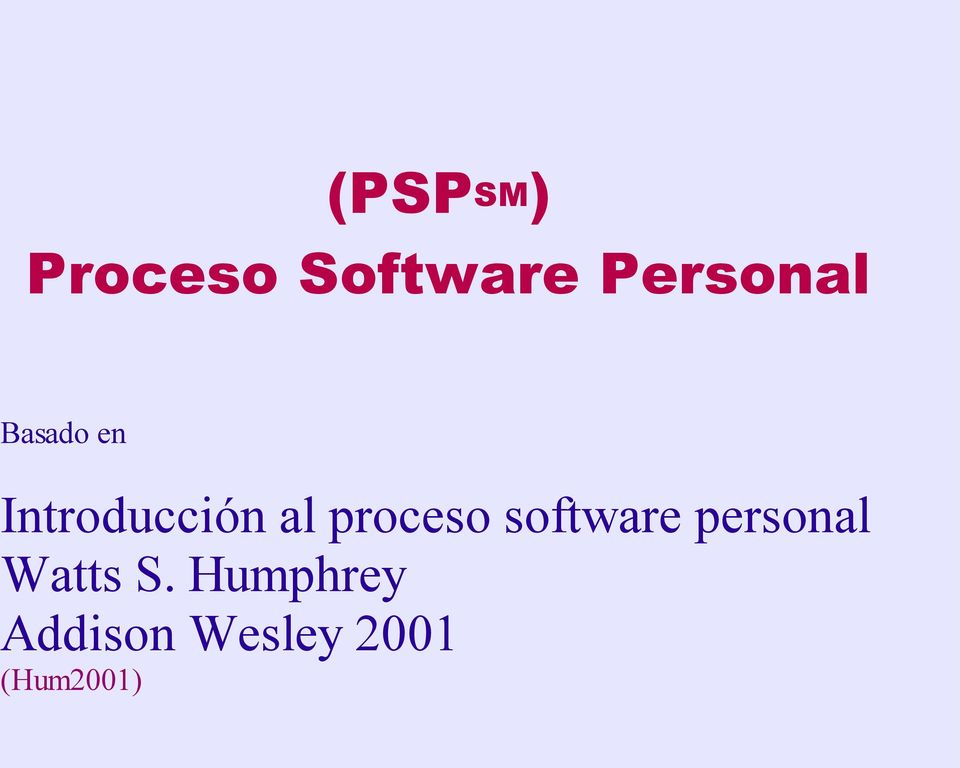 software personal Watts S.