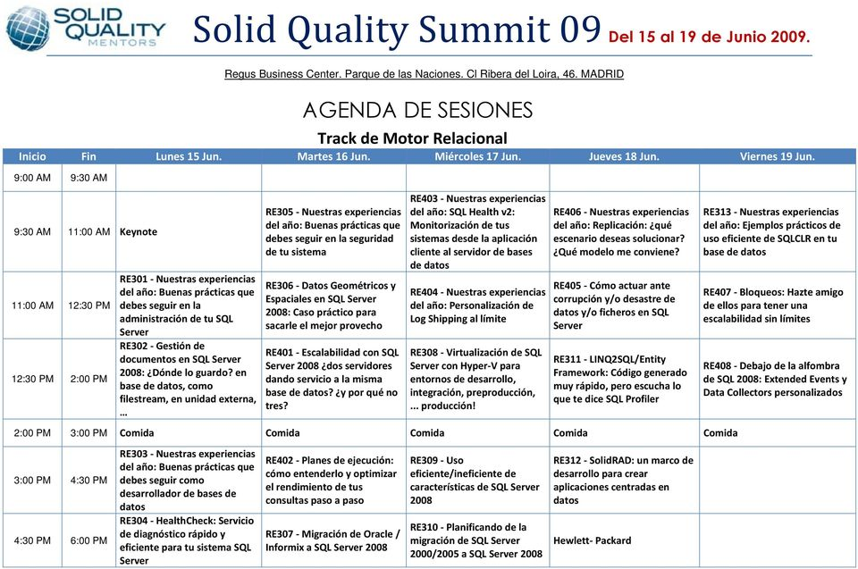 documentos en SQL 2008: Dónde lo guardo? en base de datos, como filestream, en unidad externa, Regus Business Center. Parque de las Naciones. Cl Ribera del Loira, 46.