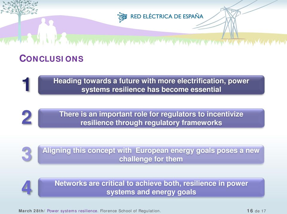 concept with European energy goals poses a new challenge for them 4 Networks are critical to achieve both,