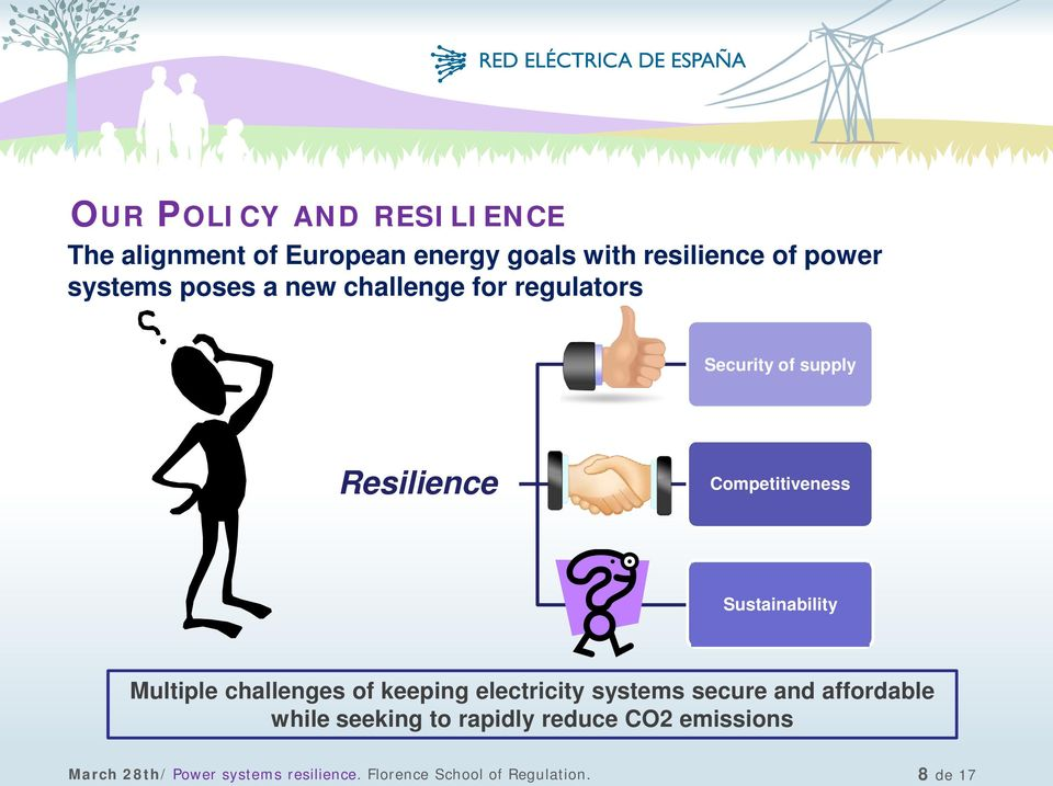 Multiple challenges of keeping electricity systems secure and affordable while seeking to rapidly