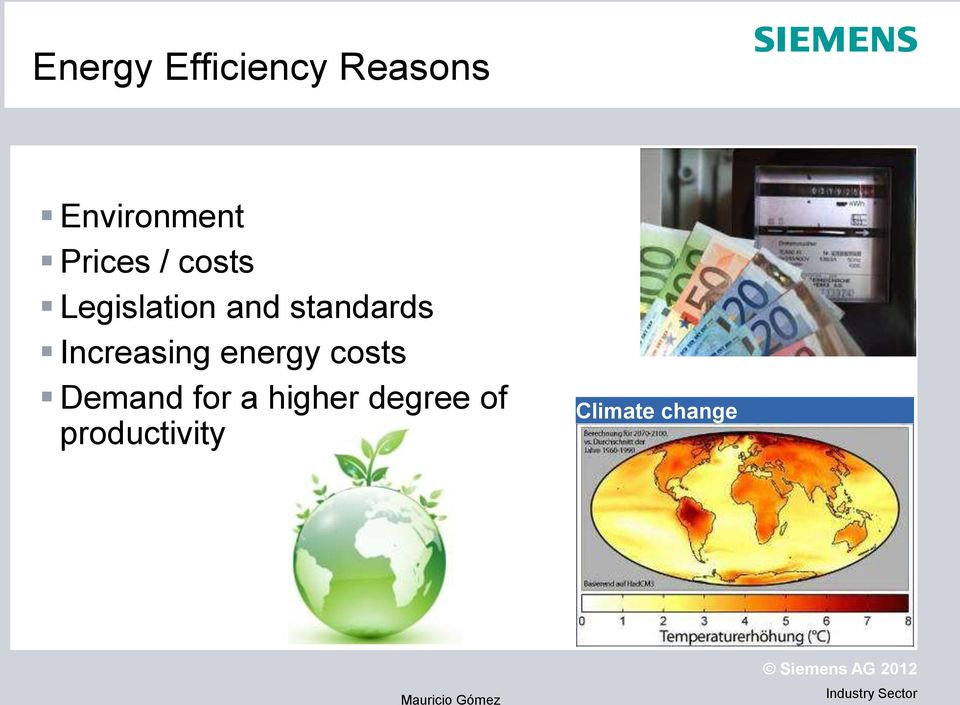 standards Increasing energy costs