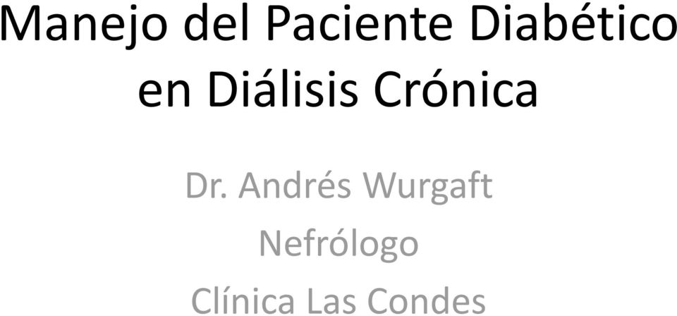 Crónica Dr.