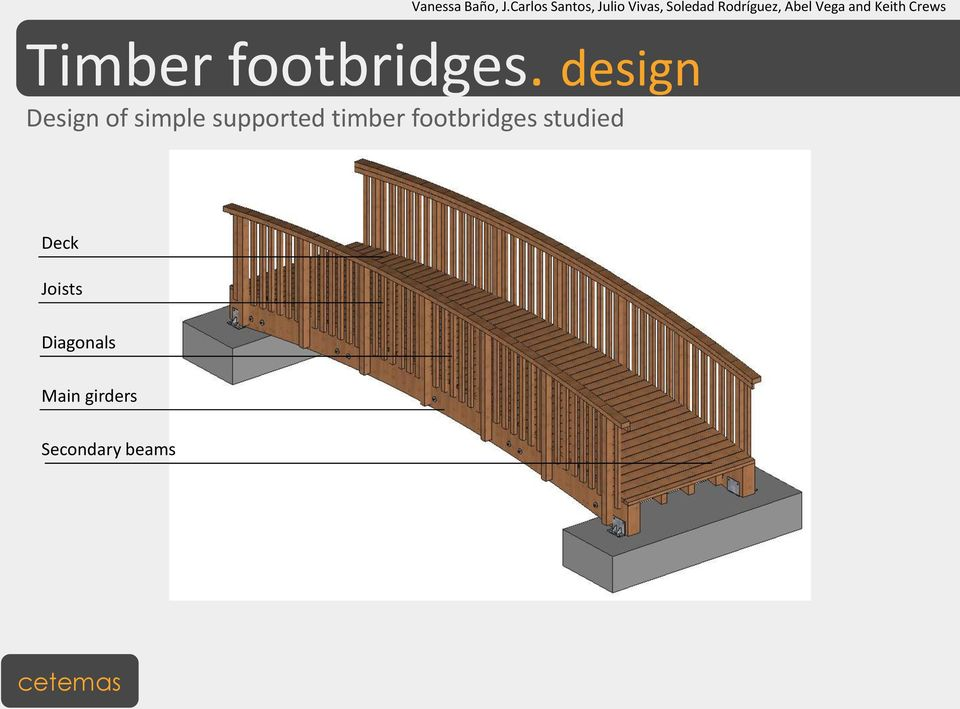 supported timber footbridges