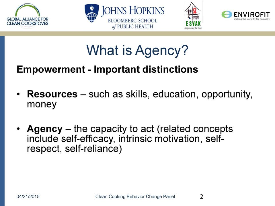 education, opportunity, money Agency the capacity to act (related