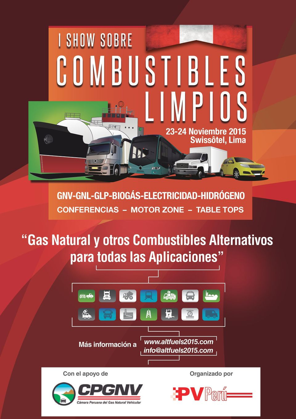 CONFERENCIAS MOTOR ZONE TABLE TOPS Gas Natural y otros