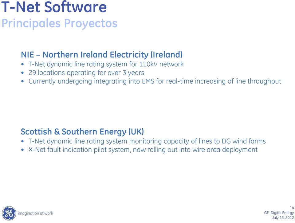 real-time increasing of line throughput Scottish & Southern Energy (UK) T-Net dynamic line rating system