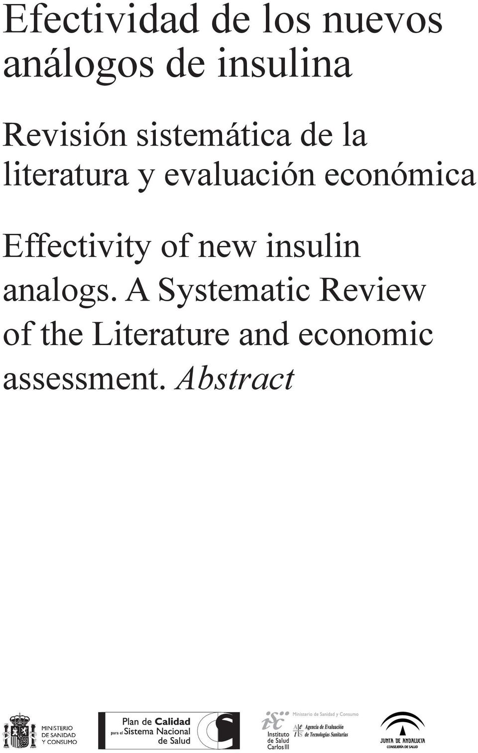 económica Effectivity of new insulin analogs.