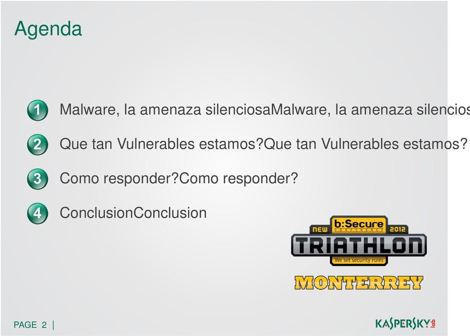 estamos?que tan Vulnerables estamos?