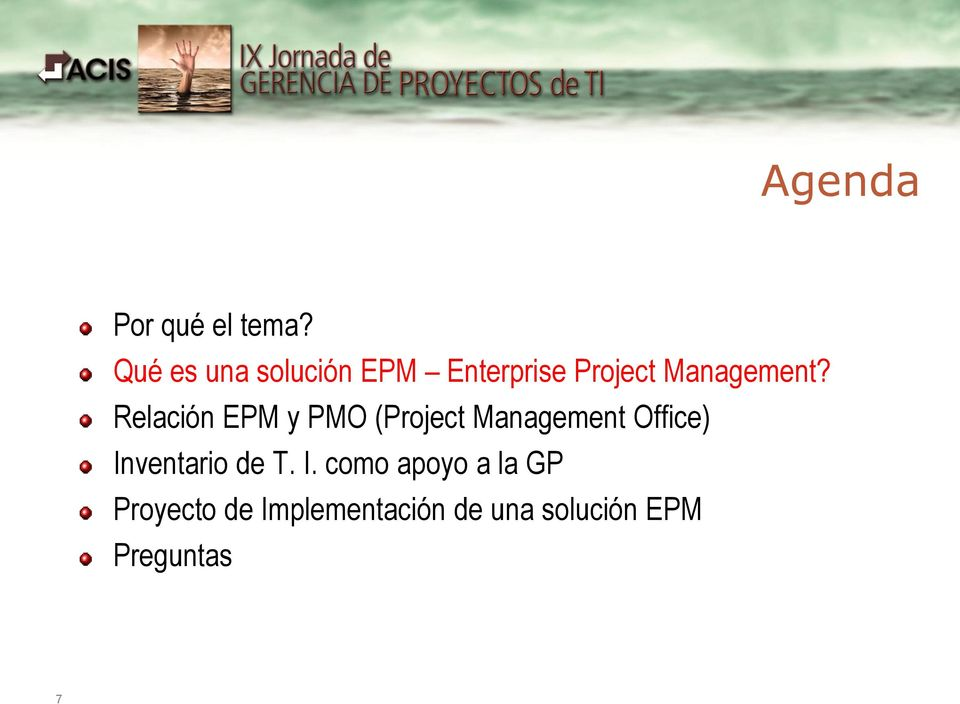 Relación EPM y PMO (Project Management Office)