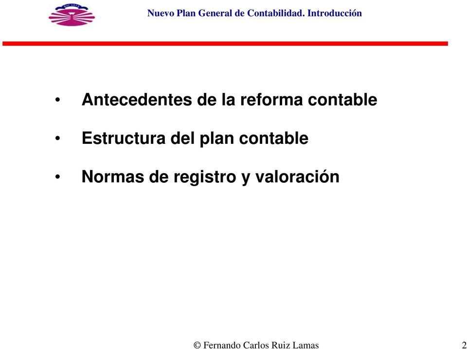 contable Estructura del plan contable
