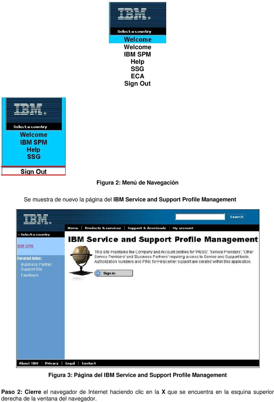 Service and Support Profile Management Paso 2: Cierre el navegador de Internet