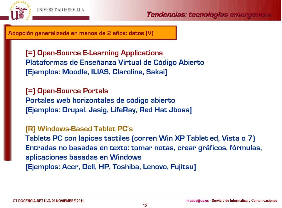Jasig, LifeRay, Red Hat Jboss] (R) Windows-Based Tablet PC s Tablets PC con lápices táctiles (corren Win XP Tablet ed, Vista o 7) Entradas