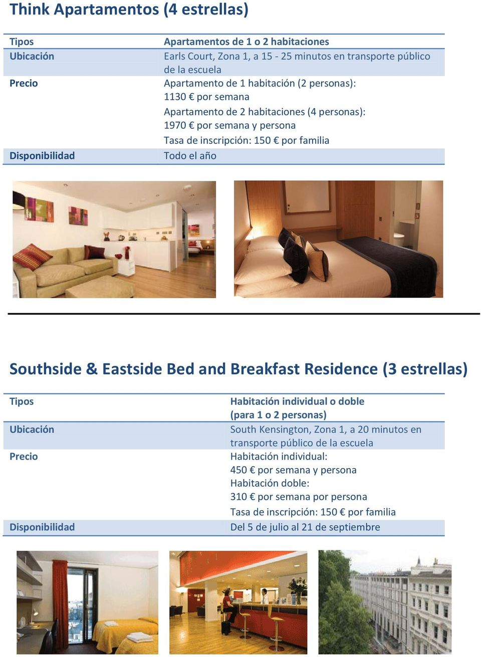 Eastside Bed and Breakfast Residence (3 estrellas) Habitación individual o doble (para 1 o 2 personas) South Kensington, Zona 1, a 20 minutos en