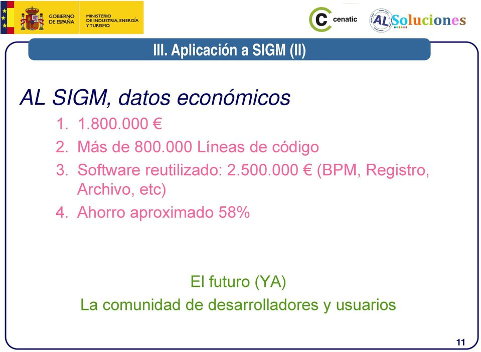 Software reutilizado: 2.500.