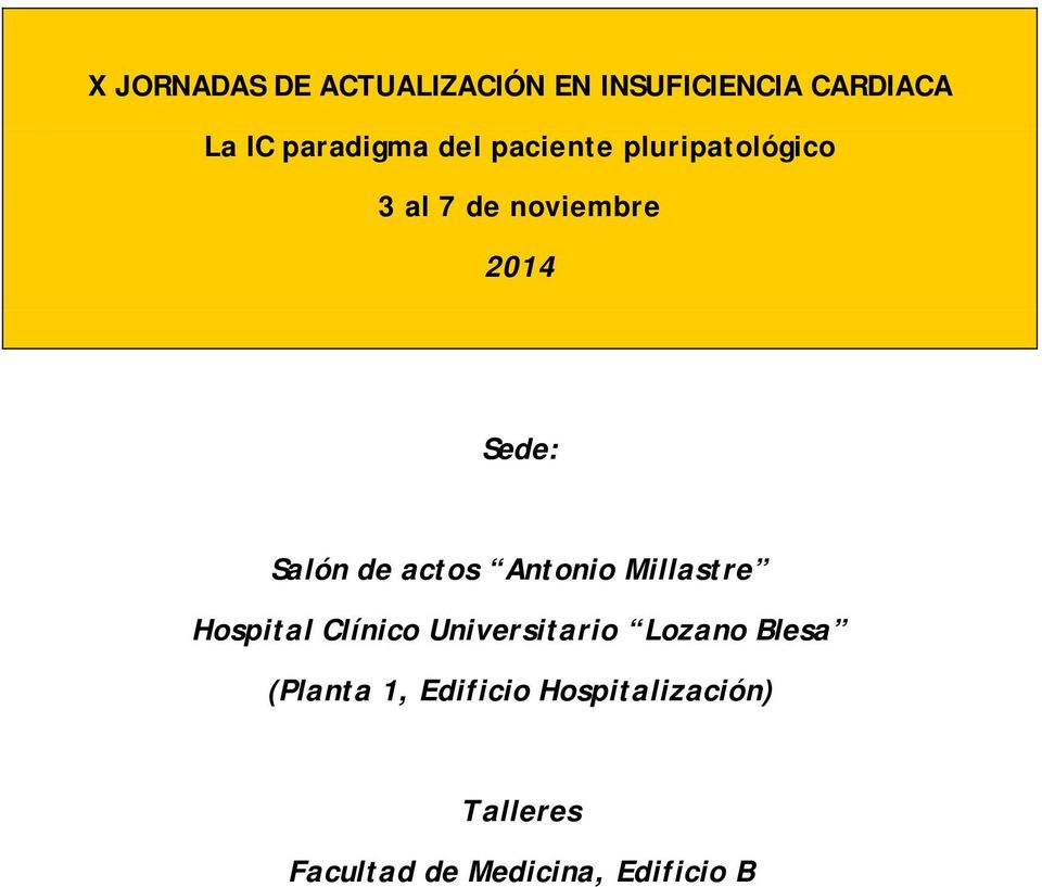 actos Antonio Millastre Hospital Clínico Universitario Lozano Blesa