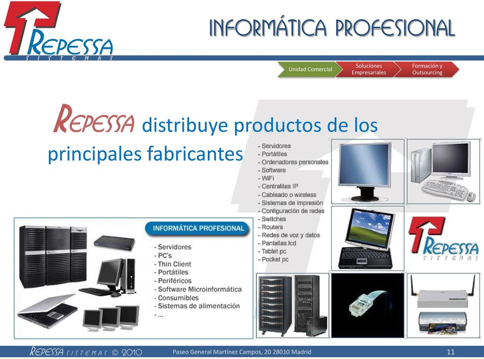 y Repessa distribuye productos