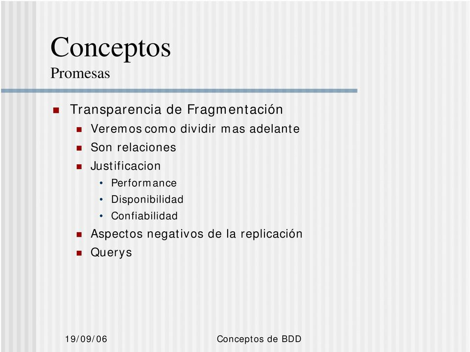 Justificacion Performance Disponibilidad