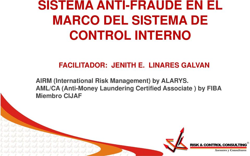 LINARES GALVAN AIRM (International Risk Management) by