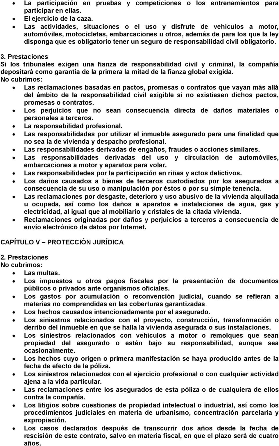 responsabilidad civil obligatorio. 3.