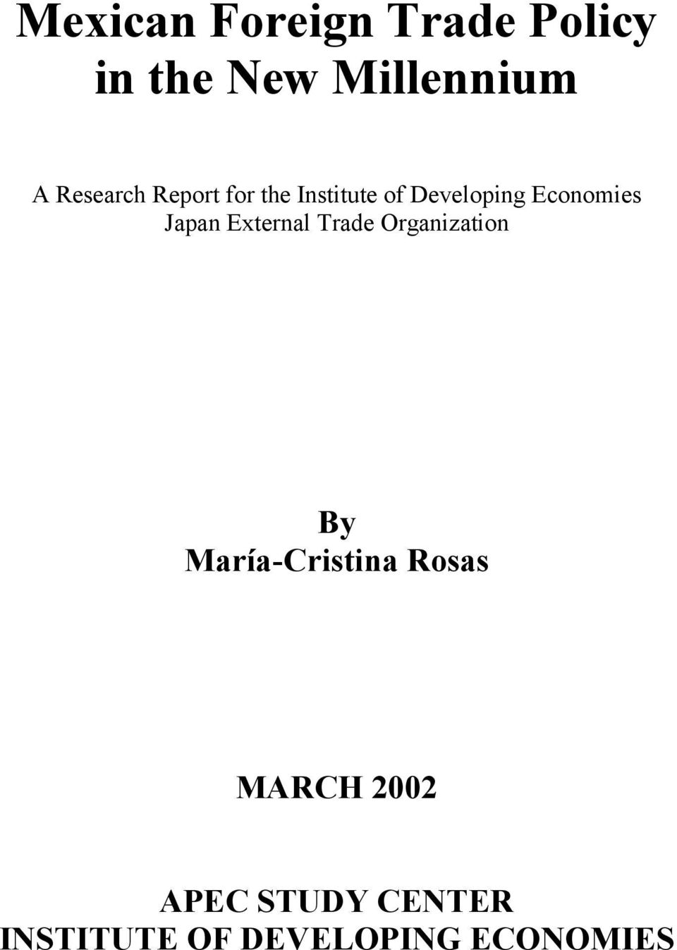 Japan External Trade Organization By María-Cristina Rosas