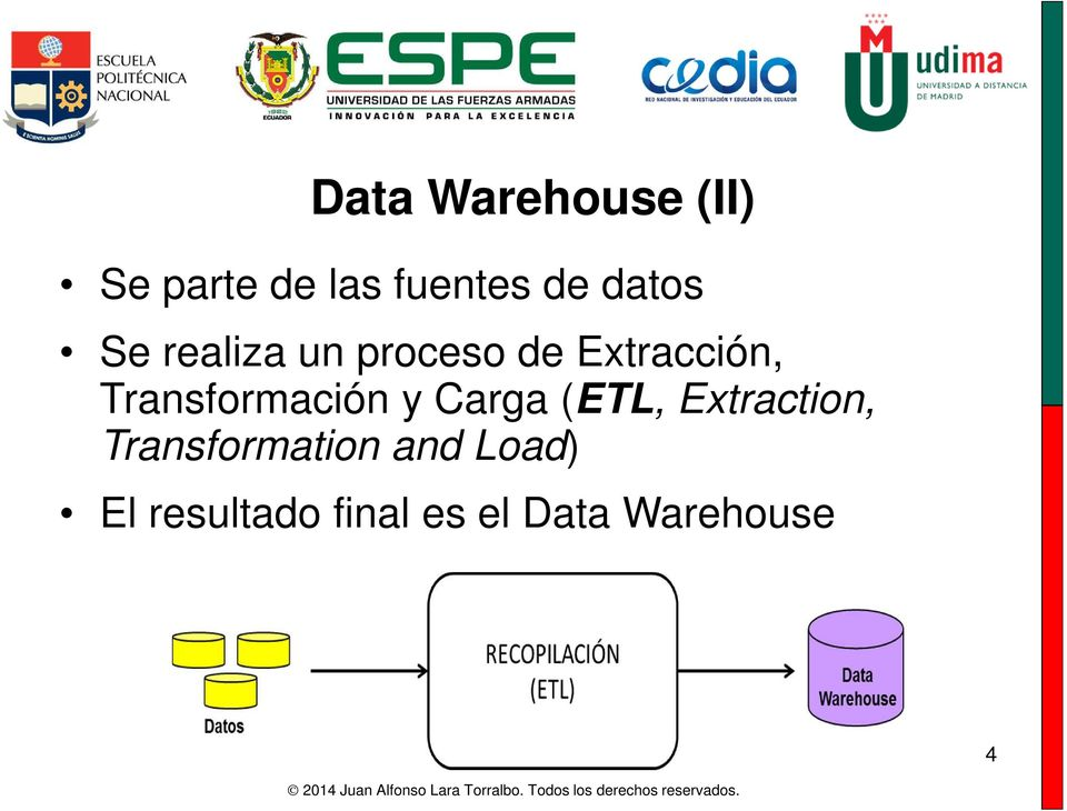 Transformación y Carga (ETL, Extraction,
