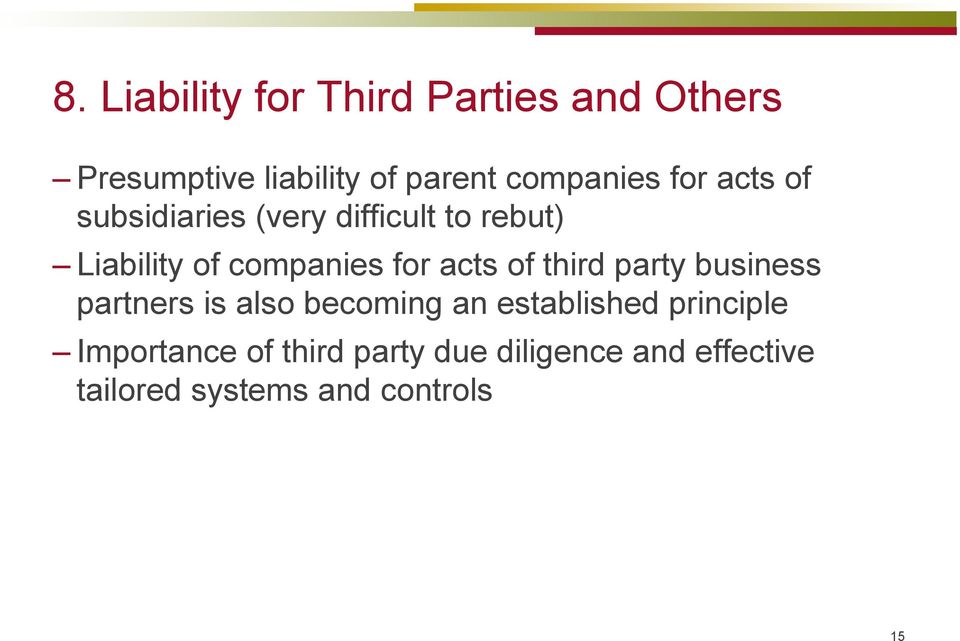 companies for acts of third party business partners is also becoming an