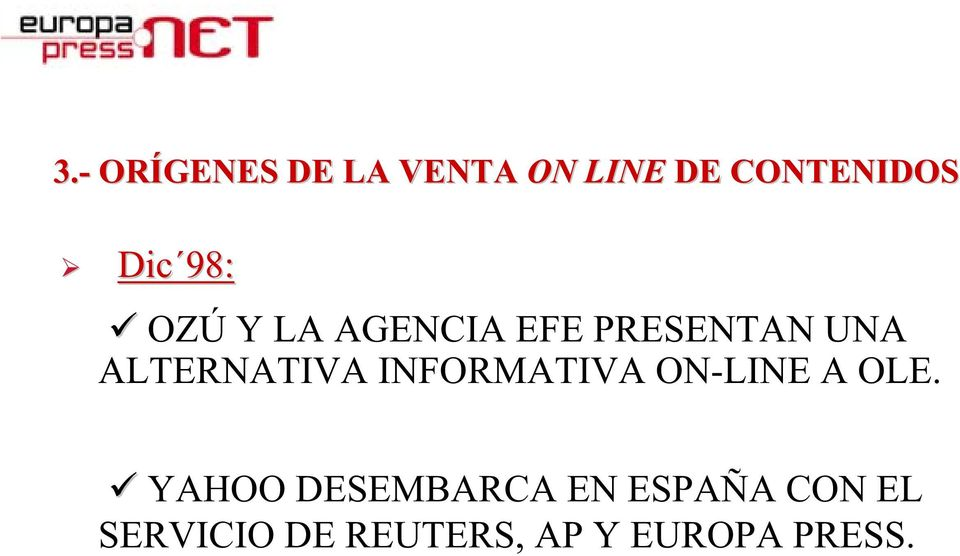 INFORMATIVA ON-LINE A OLE.