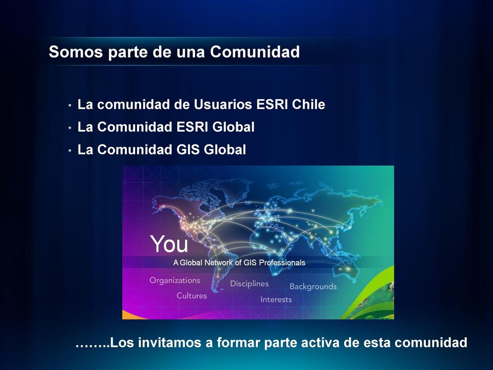 Global La Comunidad GIS Global.