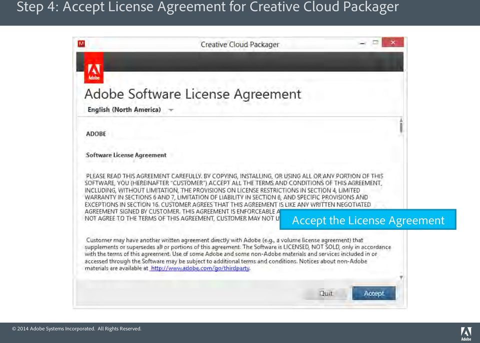 Cloud Packager Accept