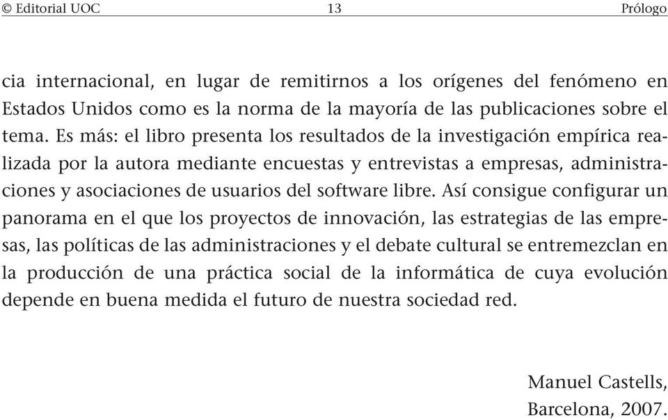 del software libre.